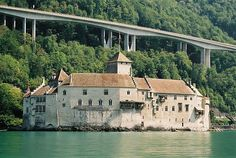 Château de Chillon - Wikipedia, the free encyclopedia My Dream Home, Castle, Mansions, House Styles, Free, Switzerland, My Dream House, Manor Houses, Villas