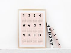Etsy Find of the Week: Toy Blocks 2015 Wall Calendars | Lonny