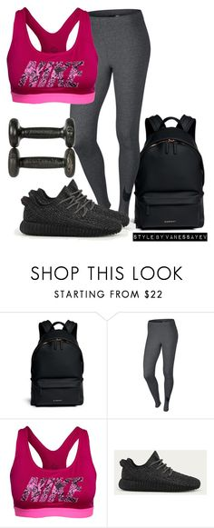 """#657"" by vanessayev ❤ liked on Polyvore featuring Givenchy, NIKE and adidas"