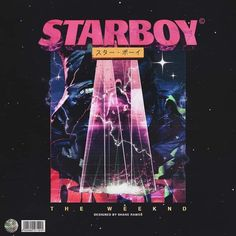 """""""Starboy"""" Cover Art by Shane Ramos (x-post r/Outrun) - TheWeeknd Collage Foto, Photo Wall Collage, Picture Wall, Picture Collages, Bts Poster, Poster Wall, Poster Prints, Bedroom Wall Collage, Graphic Design Posters"""