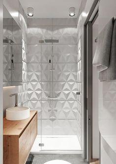 Dekoracyjne płytki ścienne w małej łazience Flat Design Ideas, Bathroom Style, Interior, Main Bathroom, Modern Bathroom, Bathroom Design Small, Bathroom Design, Bathtub, Shower Design