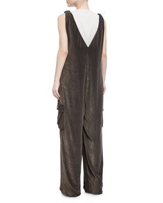 a11ea8143a9 Feather+ +Monili+V-Neck+Silk+Evening+Gown+by+Brunello+Cucinelli+at+ ...