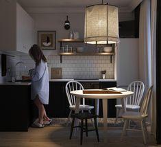 Tatyana Shevchenko on Behance Drawing Interior, Behance, Interior Design, Kitchen, Table, Furniture, Home Decor, Nest Design, Cooking