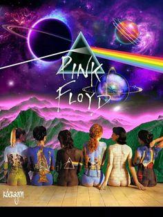Music of the gods. Pink Floyd Artwork, Pink Floyd Wall, Pink Floyd Poster, Rock Posters, Concert Posters, Daft Punk, Imagenes Pink Floyd, Roger Water, Arte Pink Floyd