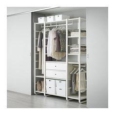 ELVARLI 3 secciones IKEA Las baldas y barras regulables te permiten personalizar el espacio según tus necesidades.