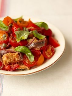 Tomato & Bread Salad  Bread Recipes   Jamie Oliver Recipes