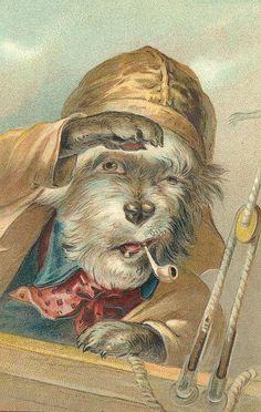 VINTAGE, EL GLAMOUR DE ANTAÑO: Perros del Vintage con clase (2)