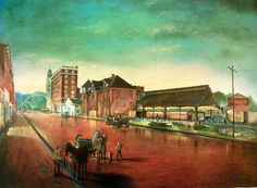 """Evening Reflections, Marietta, OH, 1915""   by Artist Michael Dickinson"