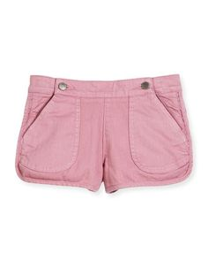 Sky+Stretch+Denim+Dolphin+Shorts,+Pink,+Size+4-12+by+Stella+McCartney+at+Neiman+Marcus.