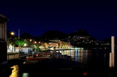 Night of Lugano Lake by Eric He on 500px
