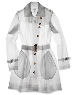 Translucent Raincoat Shield your clothes from even the worst torrential downpour with Terra New York's 100% waterproof trench coat