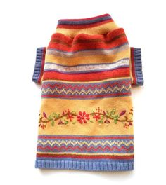 Small Colorful Floral Designer Dog Sweater
