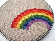 cross-stitch me a rainbow (please?)