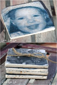 Photo Coasters tutorial Homemade Coasters, Diy Coasters, Picture Coasters, Craft Quotes, Craft Night, Photo Craft, Cute Crafts, Diy Projects To Try, Craft Fairs