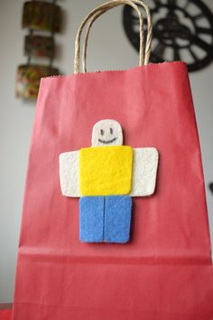 This listing is for a set of 12 ROBLOX-INSPIRED PARTY FAVOR BAGS -- Uniquely designed with felt details! : ) Youll receive 6 pcs. per design (Roblox R and character), on red and blue paper bags. : ) If you prefer different paper bag colors, just send me a convo and Id be glad to help : ) The size of each paper bag is 5.25 x 8.5. These are perfect for Roblox themed parties! For special quantities, please message me and I can make a listing for you. : ) I process orders based on party date... 5th Birthday Party Ideas, Birthday Games, Boy Birthday, Video Game Party, Ninja Turtle Birthday, Party Favor Bags, Birthdays, Party Central, Themed Parties