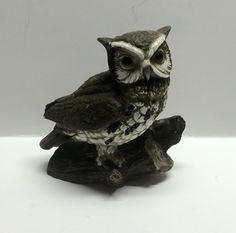 Owl vintage owl Collectable owl brown bird owl statue home decorating owl by Bayleesncream on Etsy