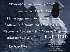 Rapture - the fallen series Serie Fallen, Fallen Saga, Fallen Novel, Fallen Book, Fallen Angels, Lauren Kate, All I Ever Wanted, After Life, Thats The Way