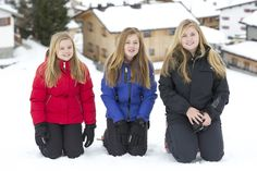 The Dutch Royal Family posed for the press during their annual holiday in Lech, Austria
