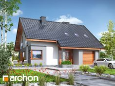 projekt Dom w żurawkach 7 widok 1