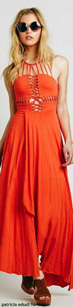 beautiful orange sundress, not a colour i usually like