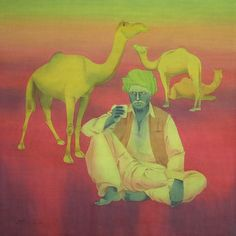 """Saatchi Online Artist Zala Bhavesh; Painting, """"Hot Draught-ll"""" #art, watercolor wash on 300gsm. HP. paper."""