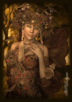 ~Autumn Fairy Aina by AelarethElennar