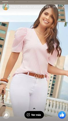 White Jeans, Ideias Fashion, Sewing Projects, Womens Fashion, How To Wear, Clothes, Dresses, Style, Casual Work Outfits