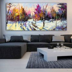 Ηλιοβασίλεμα στο δάσος πανοραμικός πίνακας σε καμβά Couch, Furniture, Home Decor, Settee, Decoration Home, Sofa, Room Decor, Home Furnishings, Sofas