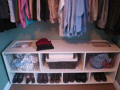 Wardrobe storage Bottom of a closet???