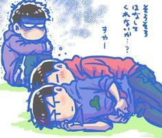 Kara Kara, Sans Art, Osomatsu San Doujinshi, Im Crazy, Anime Guys, Brother, Manga, Illustration, Kawaii