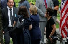 Hillary falls ill during 9/11 memorial service in New York...