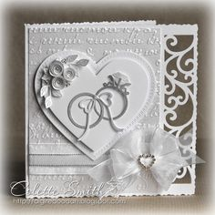 Digi-re-doo-dah:+White+on+White+Wedding+card
