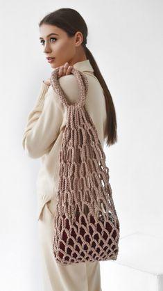 Sevirika crochet net bag