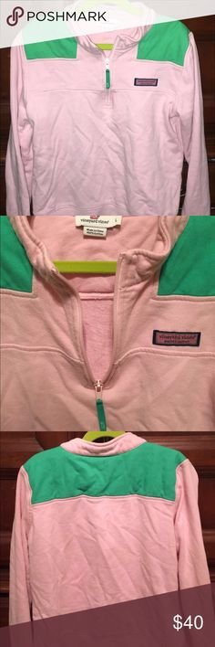 Little Girl's Vineyard Vines Shep Shirt Gently used! Color is light pink & green. Size large. Vineyard Vines Other