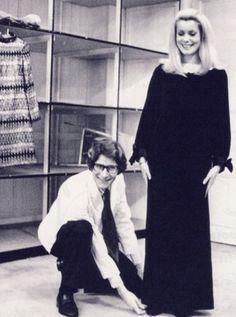 Catherine Deneuve and YSL in his studio