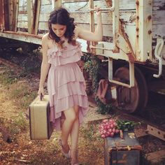 rustic vintage train lovely photo shoot