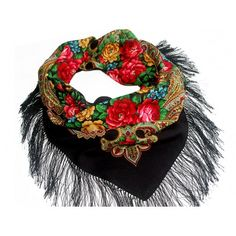 """Russian shawl """"Stranger buy for USD Bandana, Fringes, Vintage Outfits, Vintage Clothing, Plaid Scarf, Red Roses, Silk, Wool, Trending Outfits"""