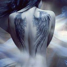 photo tattoo feminin plume ailes d ange dos Great Tattoos, Sexy Tattoos, Beautiful Tattoos, Body Art Tattoos, Cross Tattoos, Tattoos Skull, Celtic Tattoos, Animal Tattoos, Finger Tattoos