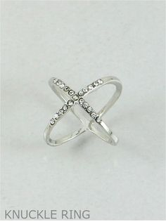 P.S. I Love You More Boutique | Make a Statement Crystal Midi Ring in Silver or Gold | www.psiloveyoumoreboutique.com