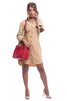 Red Media, Dresses For Work, Handle, Inspire, Tote Bag, Medium, Leather, Bags, Inspiration
