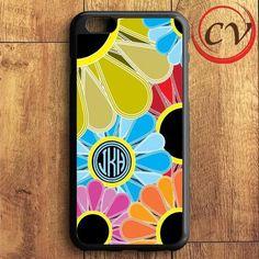 Flower Monogram iPhone 6 Plus | iPhone 6S Plus Case