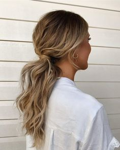 Messy High Ponytails, Messy Braids, Summer Ponytail, Half Braid, Ponytail Hairstyles, Hairstyle Ideas, Human Hair Extensions, Looking Gorgeous, Hair Looks