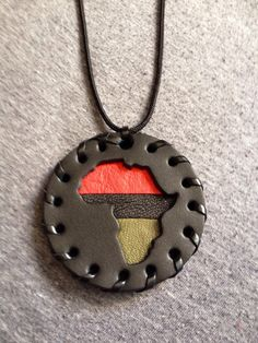 Black Africa Medallion Small Pan African by afropuff on Etsy, $25.00