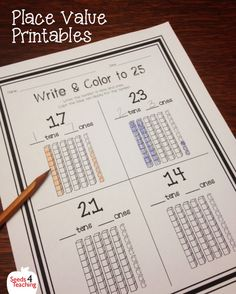 This resource will help your students practice their place value skills at differentiated levels! These 20 worksheets for first or second grade can be used as independent practice, group work or as an assessment. This set includes 20 worksheets: • 4 Base Ten Block Glue and Match • 4 Place Value Match: words • 4 Write the number and Color the Base 10 Blocks • 4 Count the blocks and write the number • 4 Fill in the missing numbers charts