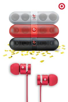 Step up their phone or MP3 player with the gift of a Bluetooth-enabled Pill 2.0 or urBeats earbuds from Beats by Dre. Kids can play music anywhere out loud or in their ears to give you some peace and quiet. And, they both come in different fun colors, too.