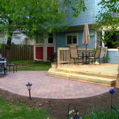 Patio Design Attached To Deck By Chicagoland Patio Builder