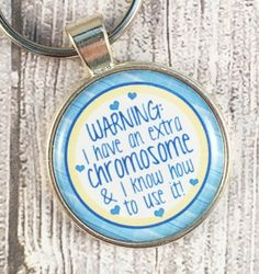 Down syndrome key chain - Extra chromosome - Down Syndrome gift - DS awareness - Down syndrome awareness - Trisomy 21 - mosaic Down syndrome by Shaebugs on Etsy