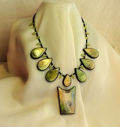 Necklace of polymer clay by Montse on Etsy