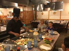 Japanese Hibachi Table Restaurant | Teppanyaki Grill | How to Cook Zucchini? - Cookeryaki