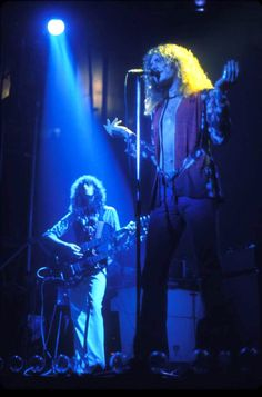 """""""Led Zeppelin: Glowing blue and gold ~ Photography by Bob Gruen"""